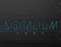 Digitalium Future Technology Line Art Font