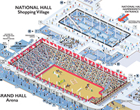 Olympia Horse Show visitor map