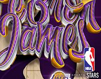 Sports Stars - NBA | Lettering series