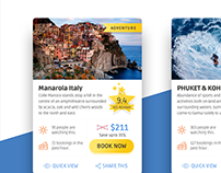 Travel Product Cards