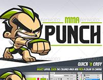 MMA Punch - Cartoon Logo