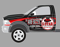 5 Star Towing and Recovery wrap design