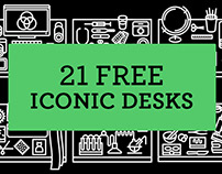 21 FREE ICONIC DESKS