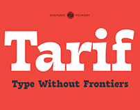 Tarif - a multiscript font with 7 free arabic weights