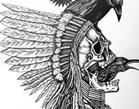 Badeco T-shirts - Índio corvo pequeno