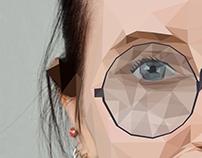 Polygonal selfportrait