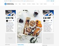 Medical WordPress Theme - Dual Sidebar Page