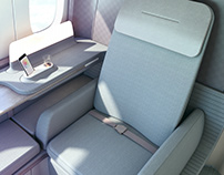 CATHAY PACIFIC - First class cabin B777-300