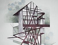 2017 07 17 - cabaña tinta en papel 21.5 x 31 cm