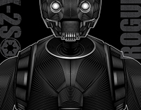 Rogue One (K-2SO)- Vector Poster