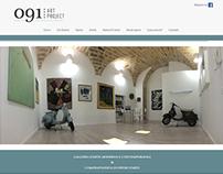 091 Art Project - web design