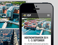 The new ISF webside. Complete UX design