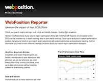 Print Copywriting | Datasheet - WebPosition Reporter