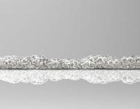 3D printed jewelry in metal. Parametric design. 2016