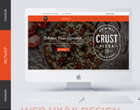Landing Page UI/UX design for Restaurant & Pizza Shop.