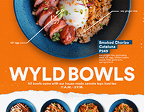 WYLD Rice Bowl Poster + Food Photography