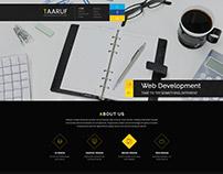 Taaruf Agency Portfolio Single and Multi Page PSD Templ