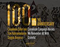 100. Anniversary of Çanakkale 1915