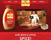 RO-HO Sauces - condiment web design & development