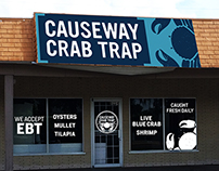 Causeway Crab Trap Logo & Store Front Design