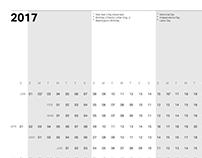 2017 Calendar Poster