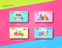 Gift Card Illustration Set 1