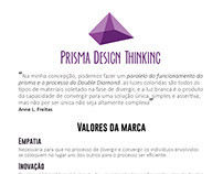 Logomarca Prisma Design Thinking: conceito do branding