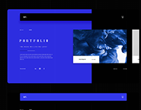 Portfolio Website Design Concept