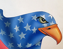 illustration American eagle