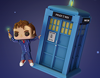 Tenth Doctor Who in the style of FANCO (FanArt)