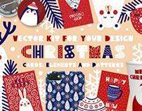 Christmas - vector collection in skandinavian style