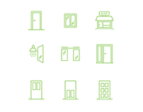 Glass Panel Pixel Perfect Icon Set