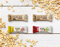 Fellas Yulaf Bar & Kids Bar Package Design
