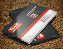 Clean Red & Gray Business Card