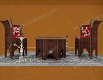 TURKISH TEA & BACKGAMMON SEATING SET FURNITURE PROJECT