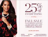 TALBOTS | November Sale Homepage