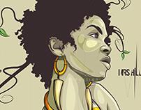 Miss. Lauryn Hill Tribute Illustration