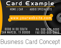 Business Card | Audio Company Card Concept