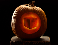 Stop motion animation using pumpkin carvings as frames