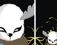 panda and deer