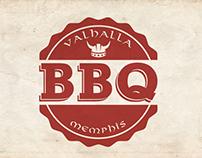 Valhalla Memphis BBQ - Logo design, editorial design...