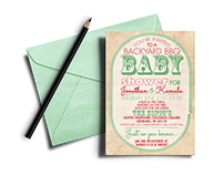 Backyard Baby Shower Invitation