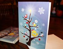 Cyclopee Xmas Tree - Greeting Card
