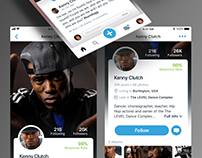 Dance Size App Profile Page UI/UX Concept