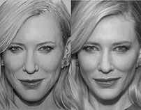 Portrait Of Cate Blanchett - Painting and Photo