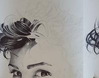 Eva bic ballpen portrait