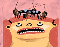 Quarantine illustration set