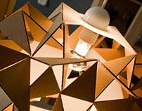 Cardboard Lamp Design / Kristina Lamp.