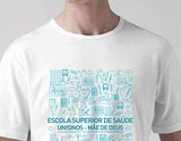 Camiseta Promotores Escola Superior de Saúde - Unisinos