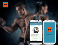 UX/UI Design - App for fitness messenger (Android)